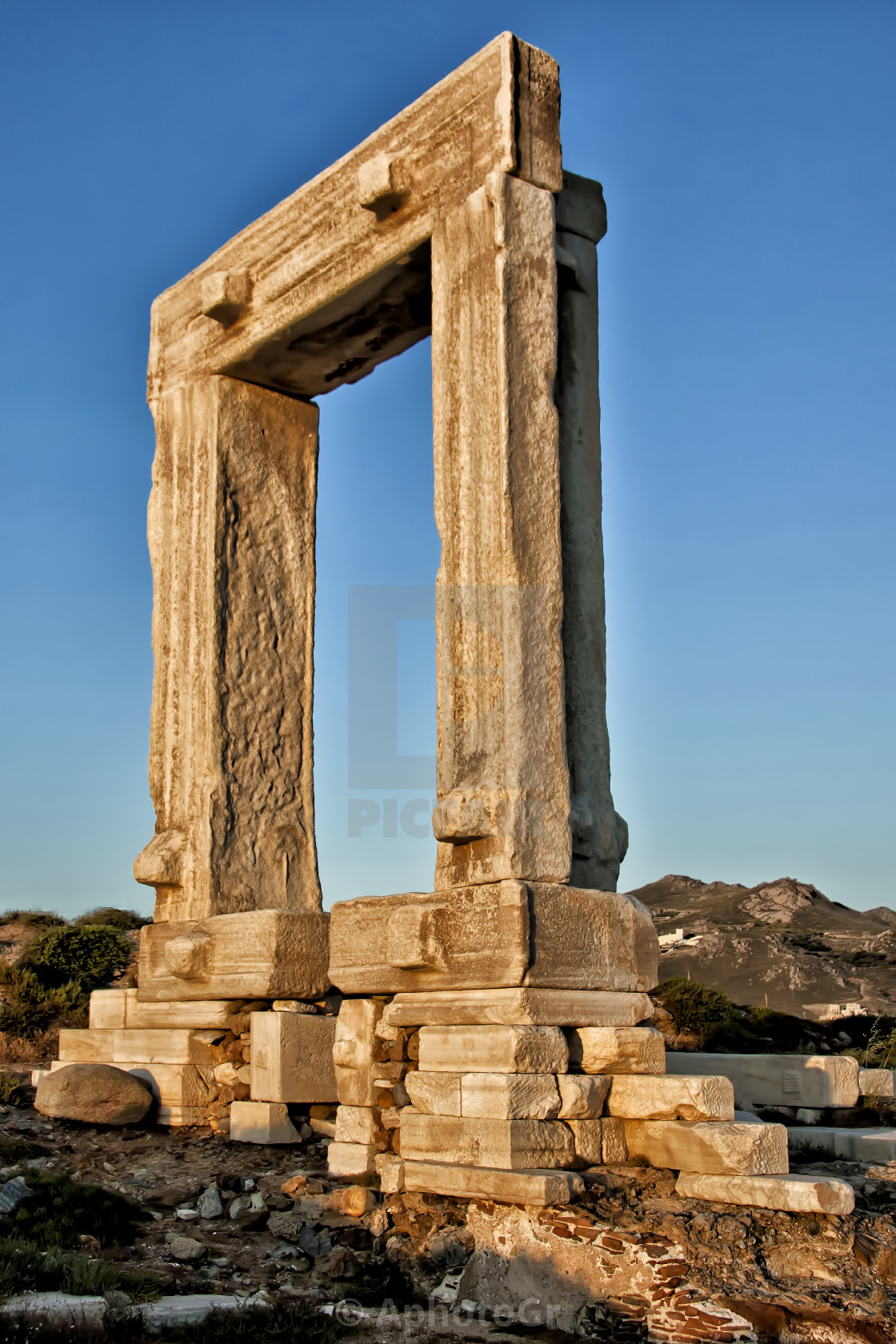 """Naxos Gate"" stock image"